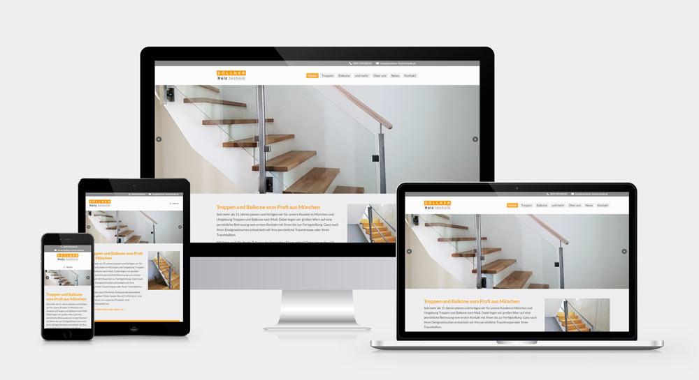 Neue DÖLLNER Holztechnik Webseite